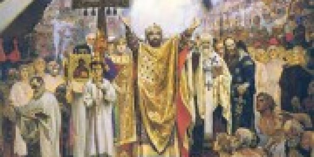 В день памяти св. равноап. кн. Владимира в Храме Христа Спасителя будет совершено праздничное торжественное богослужение
