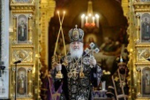 В Великий Четверг Предстоятель Русской Церкви совершил Литургию в Храме Христа Спасителя