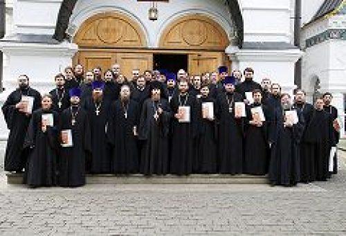 Епископ Воскресенский Савва напутствовал выпускников курсов повышения квалификации клириков города Москвы