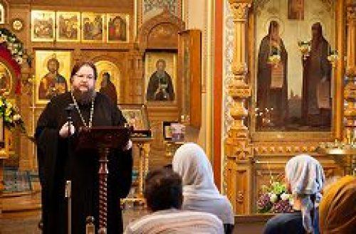 Заместитель председателя Синодального миссионерского отдела игумен Серапион (Митько) выступил с лекцией на московском Валаамском подворье