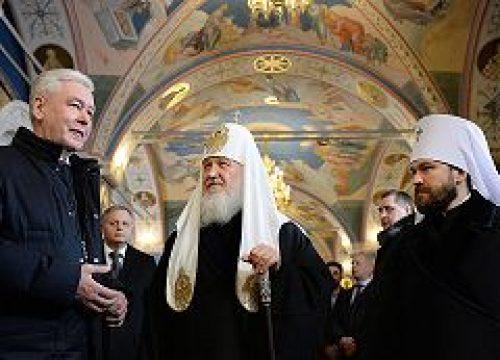 Святейший Патриарх Кирилл и С.С. Собянин посетили Патриаршее Черниговское подворье г. Москвы